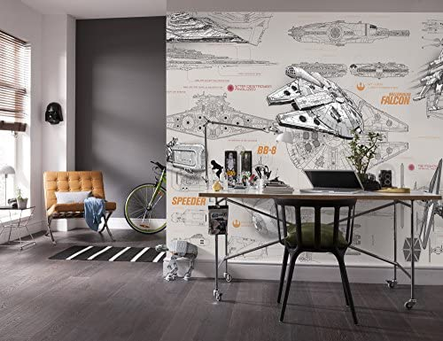 Komar Star Wars Blueprints Wallpaper Mural Vinyl Multi Colour 368 X 0 2 X 254 Cm Amazon Co Uk Kitchen Home