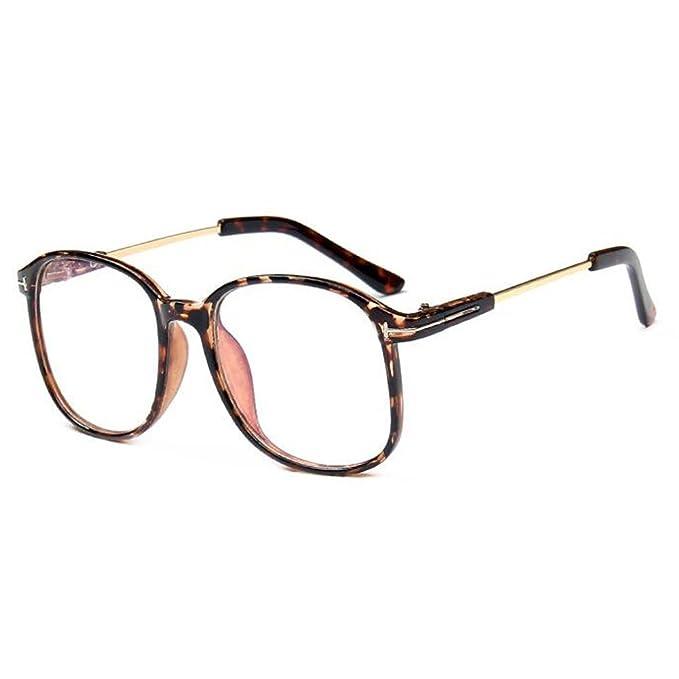 Hzjundasi Occhiali tondo Metallo Telaio Moda Vintage Anti-radiazioni Lente trasparente Occhiali Per Donna Uomo Ftrl1R