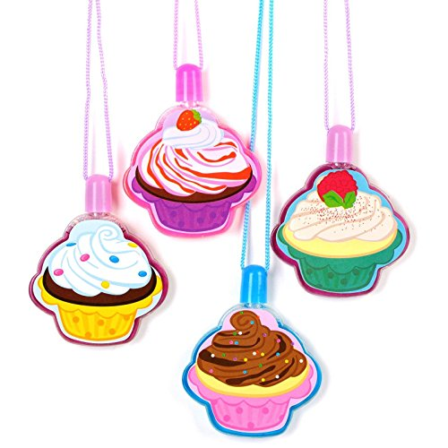 Rhode Island Novelty Cupcake Bubble Necklaces, (Bubble Necklaces)