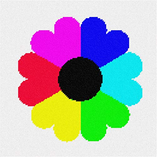 Flower From Hearts Needlepoint Canvas ()
