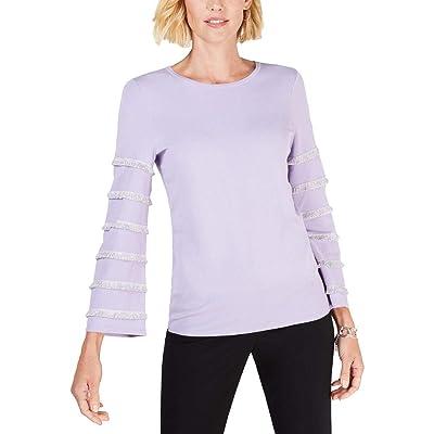 Alfani Womens Metallic Fringe Pullover Sweater at Women's Clothing store