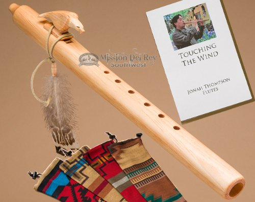 Native American Flute Pack -Natural Eagle & Bag by Jonah Thompson Flutes