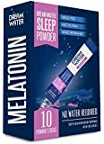Dream Water Sleep Powder, Best Natural Sleep Aid, Melatonin, GABA, 5-HTP, Snoozeberry - 10 Count, Top Rated - Non-Habit Forming