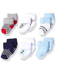 Luvable Friends - Calcetines de rizo para bebé recién nacido, 6 unidades