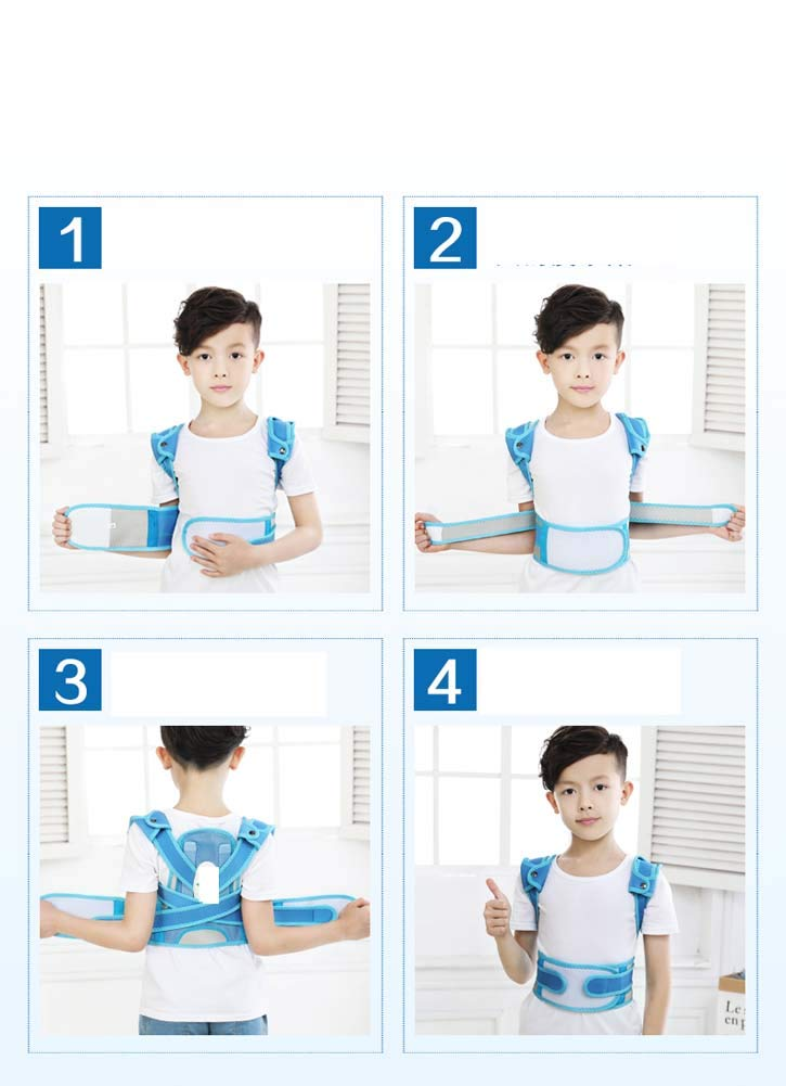 YSHS Anti-Humpback Correction Belt - Back Sitting Spine Correction Clothing Student Child Stealth Correction Prevention Myopia,Blue,L by YSHS (Image #4)