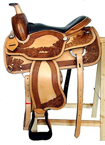 Georgia Western Saddle Made From Buffalo Leather
