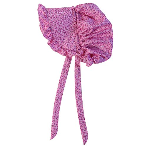 Making Believe Girls Deluxe Bonnet (Girls 4-8 Years, Pink Calico) ()