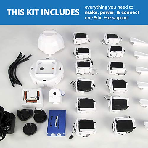 EZ-Robot Six Hexapod Kit DIY STEAM Educational Robotics Set for Kids & Adults Learning to Design & Build Programmable Electronic Robots by EZ-Robot (Image #1)