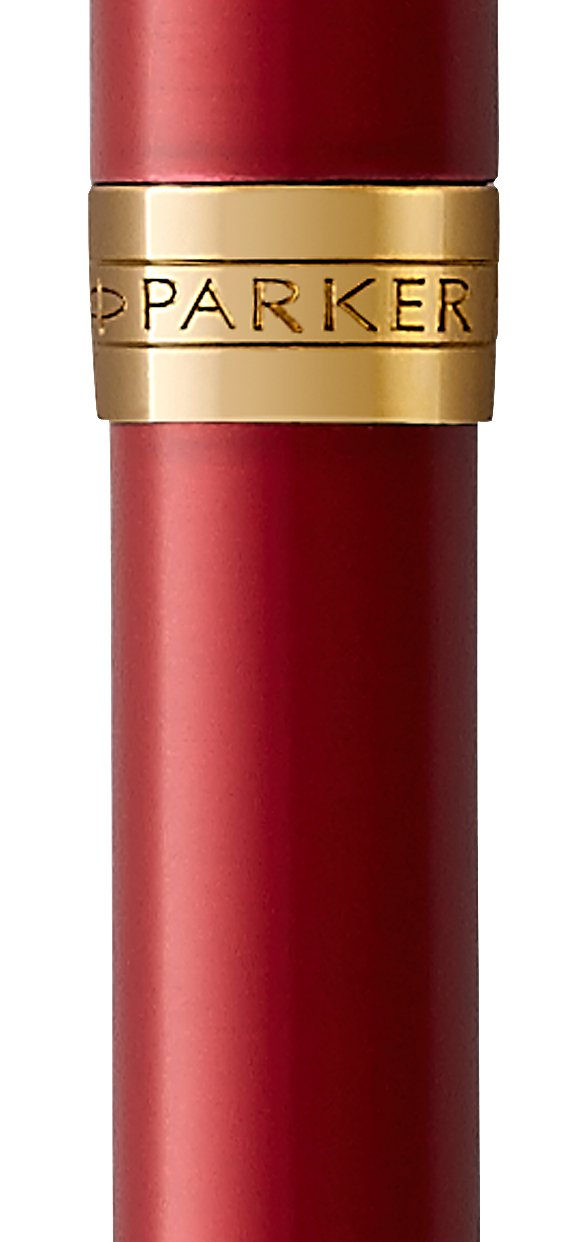 PARKER Sonnet Ballpoint Pen, Red Lacquer with Gold Trim, Medium Point Black Ink (1931476) by Parker (Image #2)