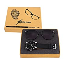 Rich Club RC-605 Casual Analog Black  And Wayfarer Sunglass