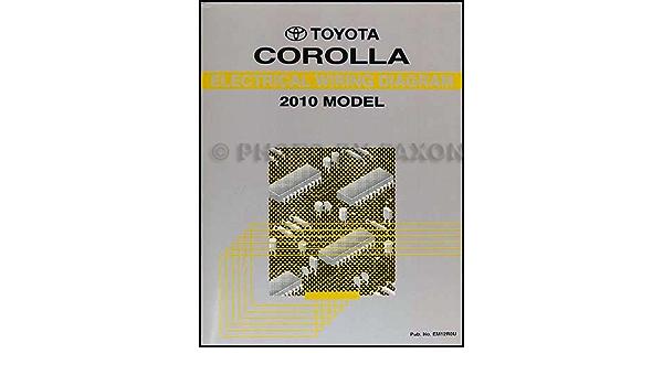 2010 Toyota Corolla Wiring Diagram Manual Original Toyota Amazon Com Books
