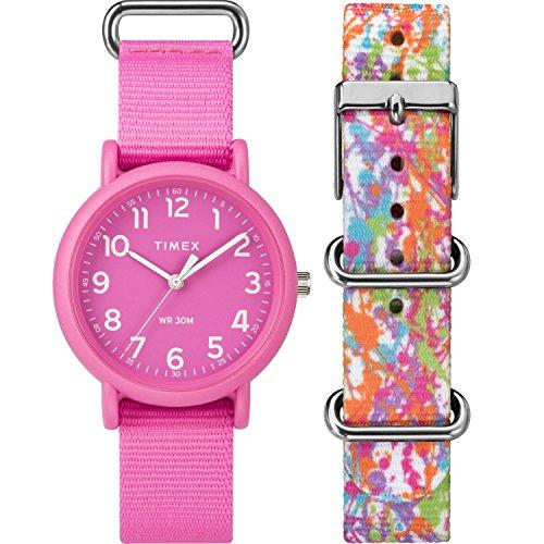 Timex Unisex TWG018100 Weekender Color Rush Pink/Splash Box (Weekender Set)