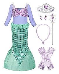Girls Sequins Mermaid Costume