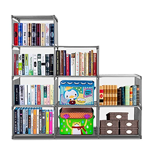 Non-Woven-Adjustable-3-Tier-Bookshelf-with-9-Shelves-for-Living-Room-Bedroom-Kids-RoomUS-Stock