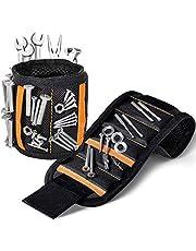 Pulsera magnética con 20 imanes fuertes para sujetar tornillos, clavos, brocas, regalo único para hombres, padre/padre, marido, novio, manitas, carpinteros