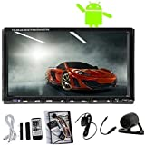 7 Inch Capacitive Touch Screen Android 4.4 Car Stereo Radio Double 2 Din GPS Navigation In Dash Car DVD CD Player Quad Cpre Support Bluetooth WiFi +Backup Camera