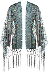 Style-1 Shawl Wrap In Sequin Fringed