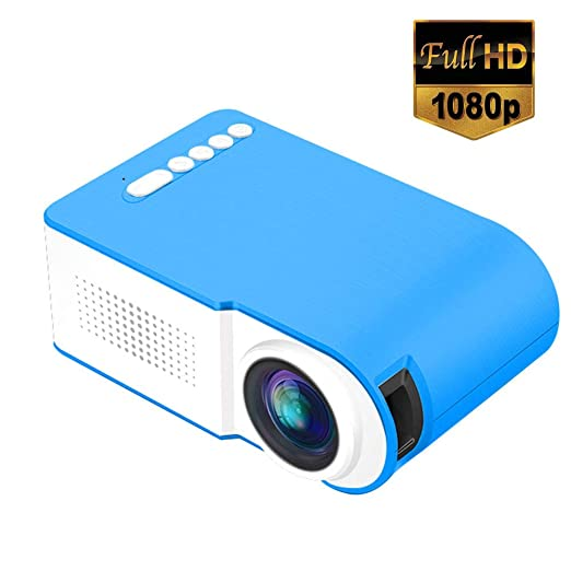 Lvreby Mini proyector portátil, HD 1080P LCD 600LM Multimedia Cine ...