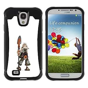 Suave TPU GEL Carcasa Funda Silicona Blando Estuche Caso de protección (para) Samsung Galaxy S4 IV I9500 / CECELL Phone case / / Viking warrior cgi axe graphics computer /