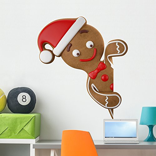 Gingerbread Man Frosting - Wallmonkeys Christmas Gingerbread Man Wall Decal Peel and Stick Holiday Graphics (36 in H x 36 in W) WM34030