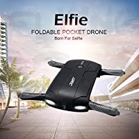 RC Quadcopter Gravity Sensor Drone, H37 Altitude Hold w/ HD Camera WIFI FPV RC Quadcopter 360 Degree Roll Drone Selfie Foldable with Headless Mode/ Fixed Height Mode