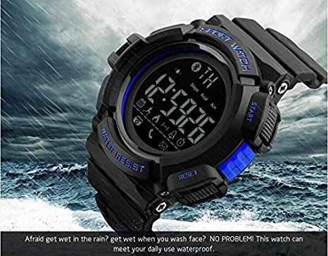 Amazon.com: Mastop Smart Watch Men Outdoor Chronograph Sports Pedometer Calories Fashion Waterproof Digital Watches: Watches
