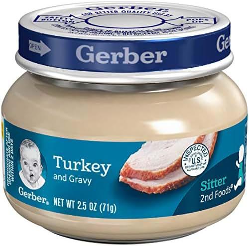 Gerber 2nd Foods Meats, Turkey & Turkey Gravy, 2.5-Ounce (Pack of 12)