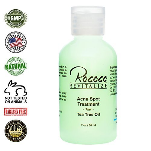 All Natural Acne Spot Treatment with Tea Tree Oil - 2oz