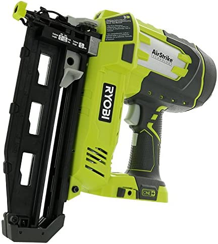 Ryobi P325 One 18V Lithium Ion Battery Powered Cordless 16 Gauge Finish Nailer Battery Not Included, Power Tool Only