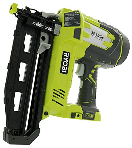 Ryobi P325 One+ 18V Lithium Ion Battery Powered Cordless 16 Gauge Finish Nailer (Battery Not Included, Power Tool Only) 18v Angled Finish Nailer