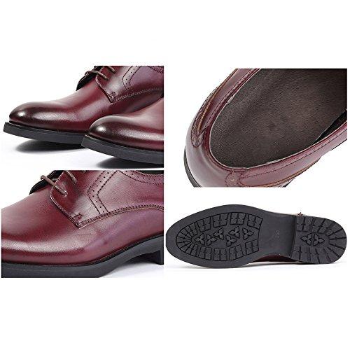 Oxford ups Pour De Chaussures En Brown Ronde Partie De à Brogue Chaussures Vache La Masculine D'affaires Hommes Cuir Pour En Mode Légère Peau Travail Lace Chaussures Ud0BpBx