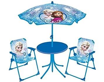 Fun House Reine des Neiges Set de jardin (Table + 2 Chaises + 1 ...