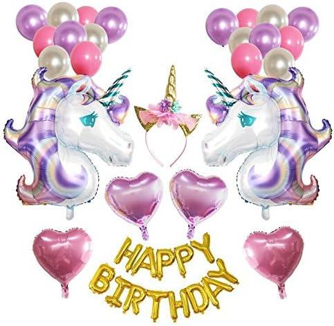 ユニコーン誕生日バルーンパッケージユニコーンパーティーバルーンデコレーション