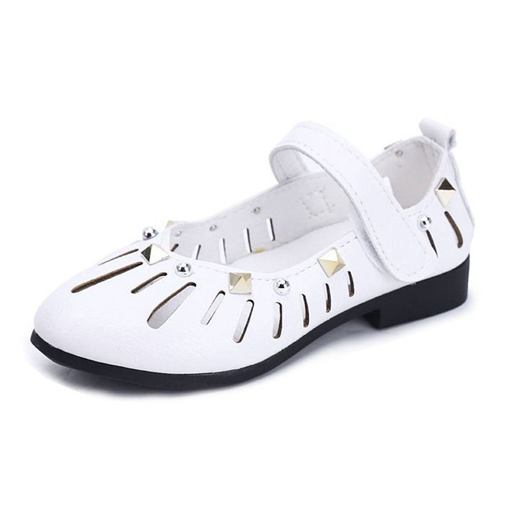 Girls Mary Jane Shoes Soft Upper Closed Toe Princess Flat Shoes Summer Sandals(Toddler/Little Kid)