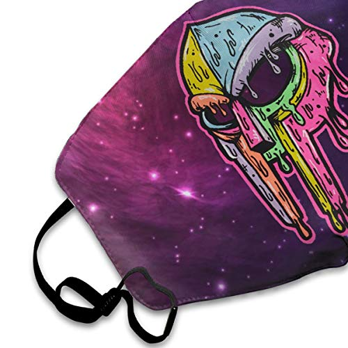 MF Doom Colorful Psychedelic Mask Anti-Dust Face Mask for Men Womens Kids Teens,Dustproof Mouth Mask for Smoke Allergies Outdoors Festivals Sport Dust with Adjustable Ear Loops