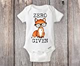 Zero Fox Given Onesie® Custom Baby Shower Gift - Two versions for either a Baby Boy or a Baby Girl