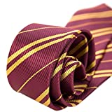 MISS FANTASY Cosplay Tie for Birthday Party Costume Accessory Necktie for Halloween Party Red Tie for Harry