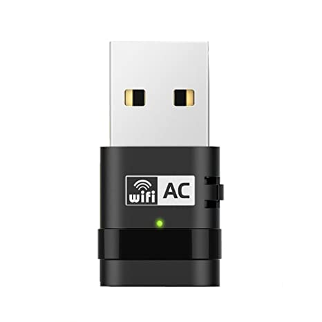 PIX-LINK 5GHz 600M Banda Dual Adaptador USB inalámbrico Adaptador de red Tarjeta USB para escritorio portátil (5GHz + 2.4GHz, 600M)
