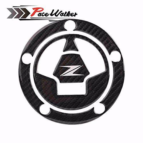 PACEWALKER 3D Carbon Fiber Tank Gas Cap Pad Filler Cover Sticker Decals Fit KAWASAKI Z1000 Z1000SX Z800 Z750 Z250 by PACEWALKER