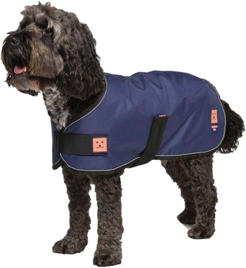 Ginger Ted Shower Waterproof Dog Coat Medium size 14inch 36cm Navy Blue