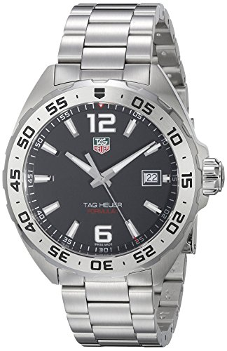 Tag Heuer Mens Quartz Watch, Analog Display and Stainless Steel Strap WAZ1112.BA0875