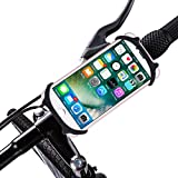 DoMyfit Bike Mount Holder Silicone Strap Universal Adjustable Bicycle Motorcycle Handlebar Phone Mount Rack for 4-6 Inch Cellphones GPS