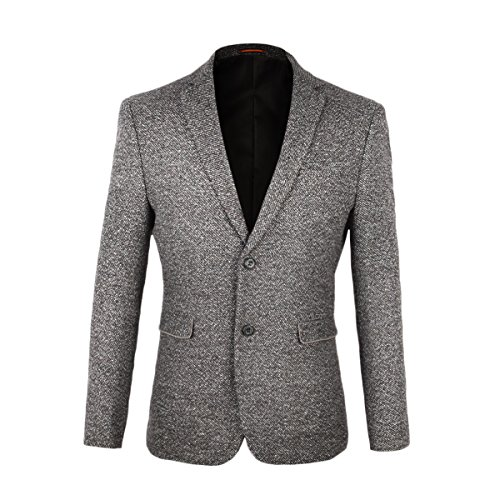 VOBOOM Men's Two Button Sport Coat Elbow Patches Blazer for sale  Delivered anywhere in USA