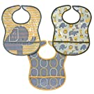 Hamco Elephant PEVA Bibs, Yellow - 3 pack