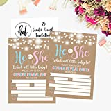 25 Rustic Gender Reveal Baby Shower Party