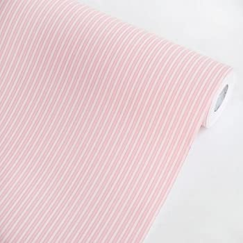 Pink stripes vinyl self adhesive wallpaper for Pre adhesive wallpaper