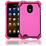 virgin mobile galaxy sii - CellJoy Samsung Galaxy S II Case Triple Armor Layered for Epic Touch 4G (SPH-D710, SCH-R760) (Sprint / Boost / Virgin / US Cellular) Samsung Galaxy S2 [CellJoy Retail Packaging] (Hot Pink & Black)
