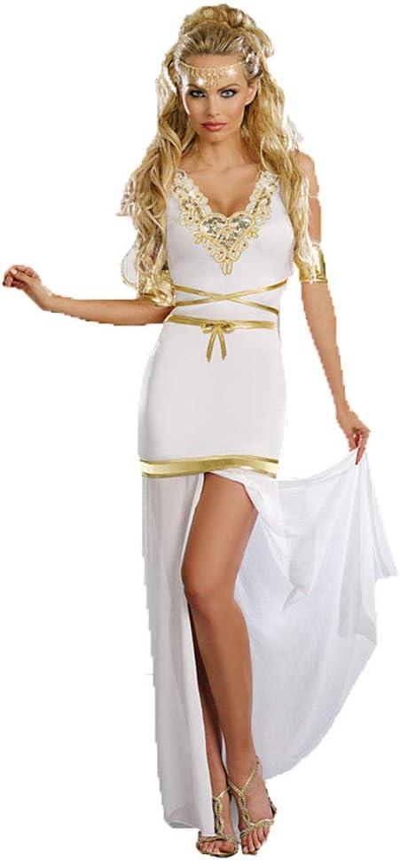 CAGYMJ Dress Party Mujer Vestido,Cosplay Sexy Diosa Griega Pierna ...