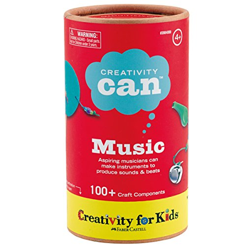 Creativity for Kids Creativity Can Music - Open Ended Music Fun, 100+ Craft Components