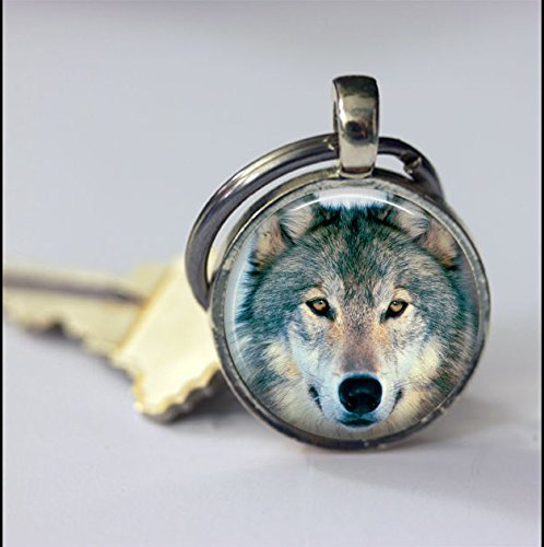 Keychain Vintage Wolf Face Keychain,Vintage Animal Art Pendant Key Chain,Handmade Keychain,Vintage Jewelry,Fashion Jewelry for Women Or Men